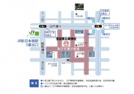 べったら市の地図
